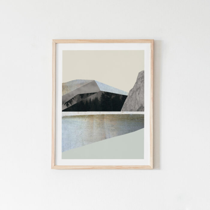Terrain, abstract landscape art print