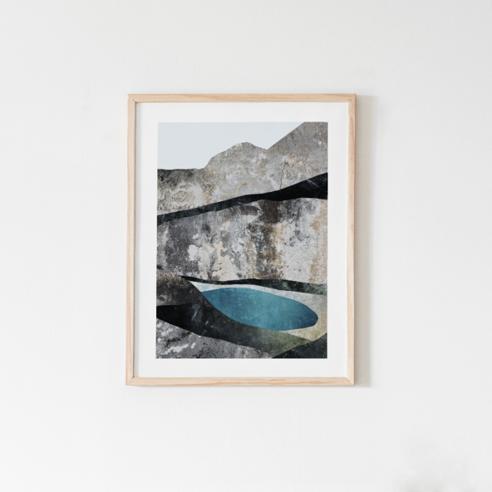 Arctic Lake, mountain art print