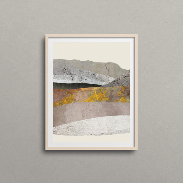 Mixed media mountain art by Christine Lantz