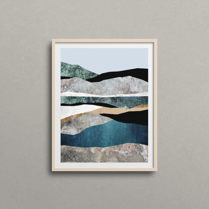 Rock Formations, abstract landscape art