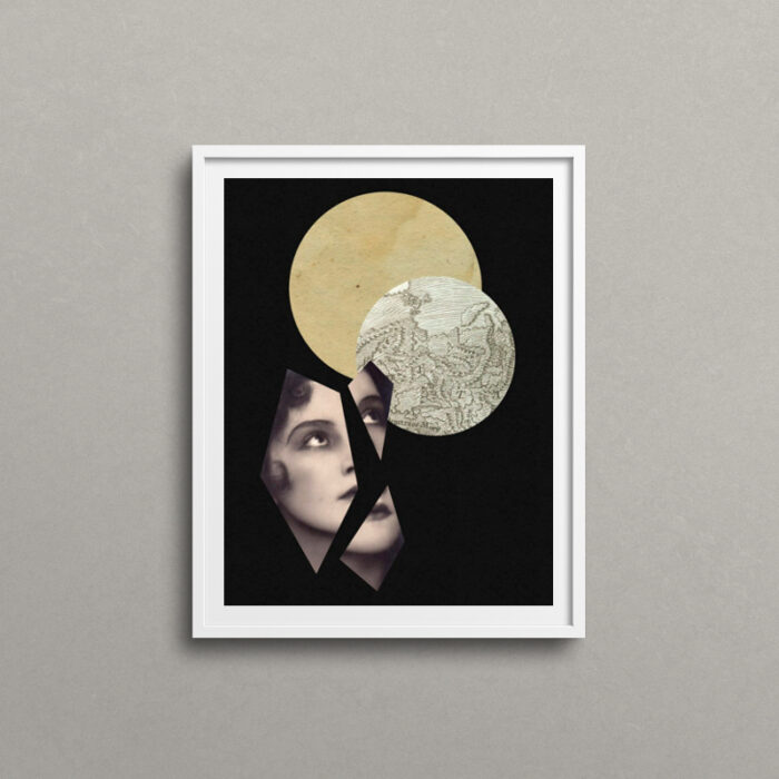 Apart, surreal art print