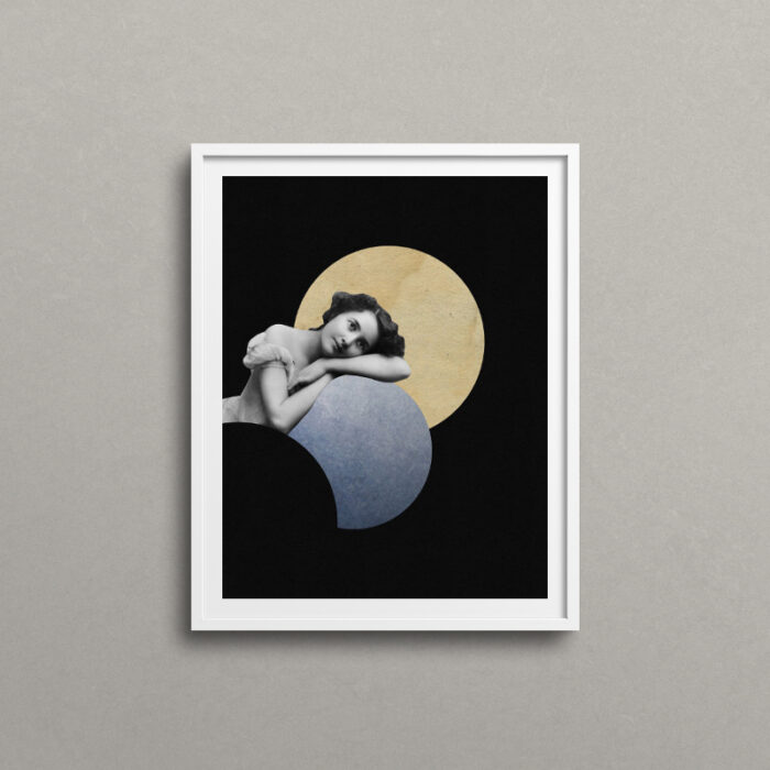 Mesmerized, surreal art print