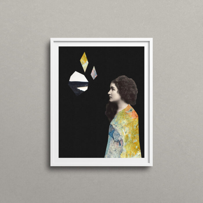 She, surreal portrait art print