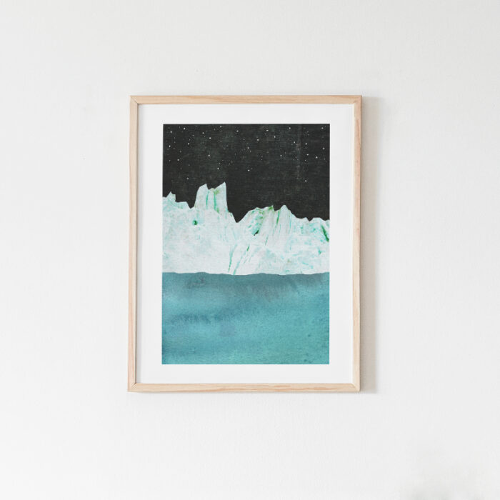 Arctic Night, iceberg art print