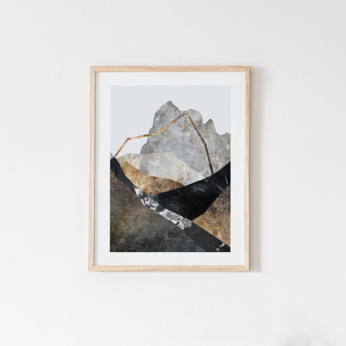 Awaken, mountain art print