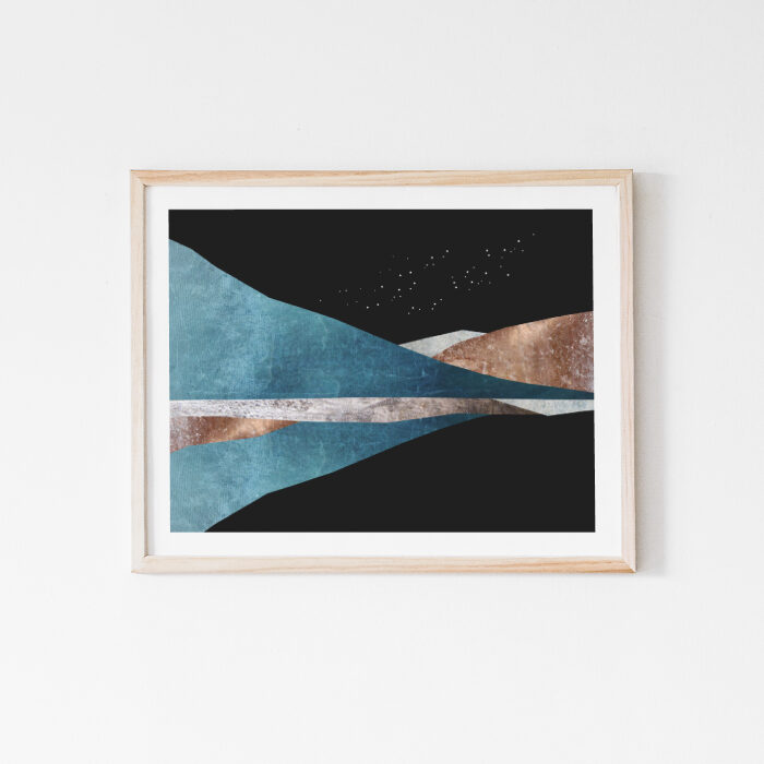 Cosmic Balance, abstract landscape art
